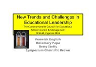New Trends and Challenges in Educational Leadership