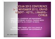 Leadership and leadership skills - CCEAM 2012