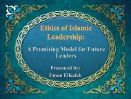 The Islamic ethics of leadership: A promising model ... - CCEAM 2012