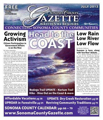 www.sonomacountycalendar.com - 7/13 - Sonoma County Gazette