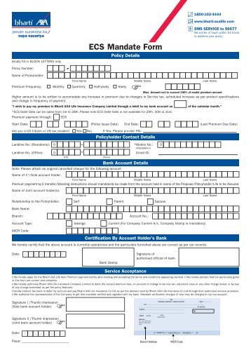 Direct Debit Mandate Form