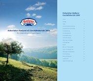 Hohenloher Molkerei eG Geschäftsbericht 2009