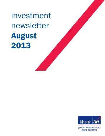 August - Bharti AXA Life Insurance