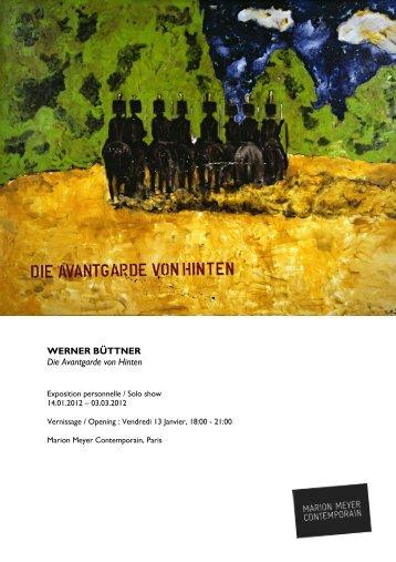 WERNER BÜTTNER Die Avantgarde von Hinten - Marion Meyer ...