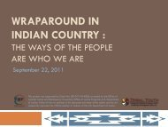 WRAPAROUND IN INDIAN COUNTRY