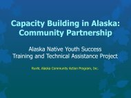 Capacity Building in Alaska Community Partnership