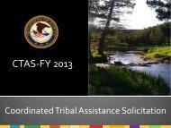DOJ CTAS Presentation 2013_Final.pdf - Tribal Youth Program