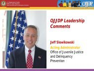 OJJDP Leadership Comments