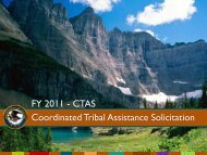 FY 2011 - CTAS Coordinated Tribal Assistance Solicitation