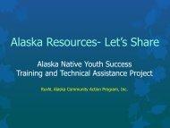 Alaska Resources- Let's Share