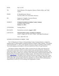 Criminal Jurisdiction in Indian Country Seminar - Tribal Law and ...