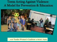 Teens Acting Against Violence A Model for Prevention & Education