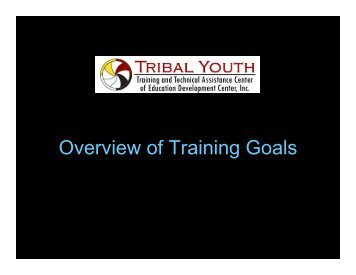 Overview of Training Goals