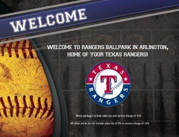 Rangers Ballpark In Arlington Home Of Your Texas - Metroplex ...
