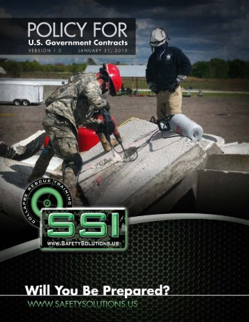 ix. contract performance obligations - Safety Solutions Inc.