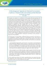 IT for Change Position Paper A Development ... - The Public Voice