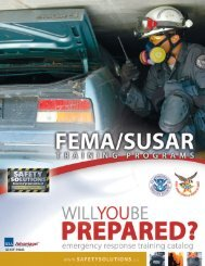FEMA/SUSAR EVALUATIONS SAFETY SOLUTIONS GEAR 1 2 14 16