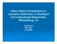 Heavy Metal Concentrations in Lacustrine ... - Media.wm.edu