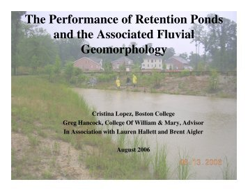 The Performance of Retention Ponds and the ... - Media.wm.edu