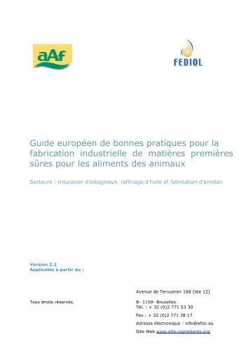 Guide européen de bonnes pratiques pour la fabrication industrielle ...