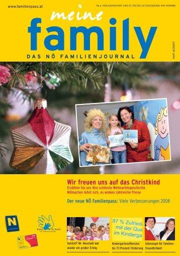Wir freuen uns auf das Christkind - Familienpass
