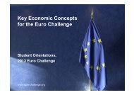 Key Economic Concepts for the Euro Challenge