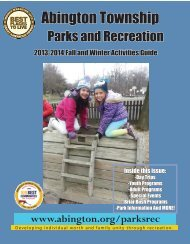 2013 Fall and Winter Activities Guide - Abington Township