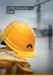 ALPINE Annual Report 2008