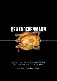 Ein Solo von und mit Christoph Dostal Frei nach dem Krimi von Wolf ...