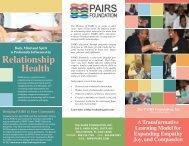 PAIRS Brochure, Tri-Fold - pairs professional training