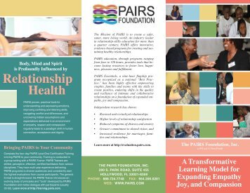 PAIRS Brochure, Tri-Fold - pairs professional training
