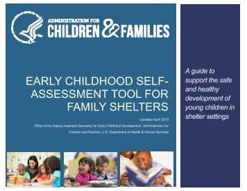 EARLY CHILDHOOD SELF- ASSESSMENT TOOL FOR FAMILY SHELTERS