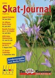 Ausschreibung zur 17. Damen-Landesliga 2011 - DSkV