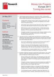 Money into Property Europe 2011 Turning the corner