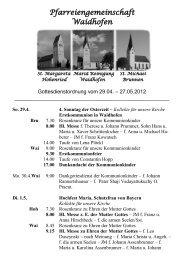Pfarreiengemeinschaft Waidhofen