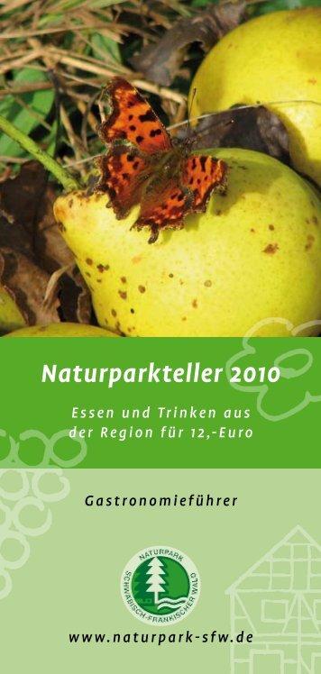 Naturparkteller 2010 - Naturpark Schwäbisch Fränkischer Wald