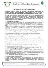 íntegra - Prefeitura Municipal de Aurora