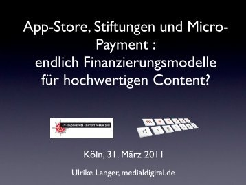 endlich Finanzierungsmodelle für hochwertigen ... - Medial Digital
