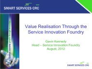 Value Realisation Through the Service Innovation Foundry