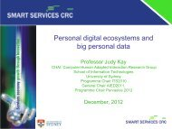 Personal digital ecosystems and big personal data