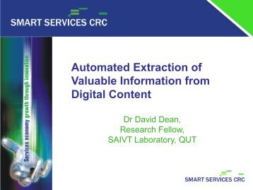 Automated Extraction of Valuable Information from Digital Content