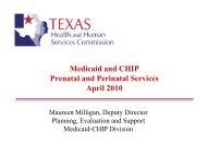 Medicaid and CHIP Prenatal and Perinatal Services April 2010