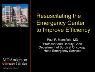 Resuscitating the Emergency Center to Improve Efficiency