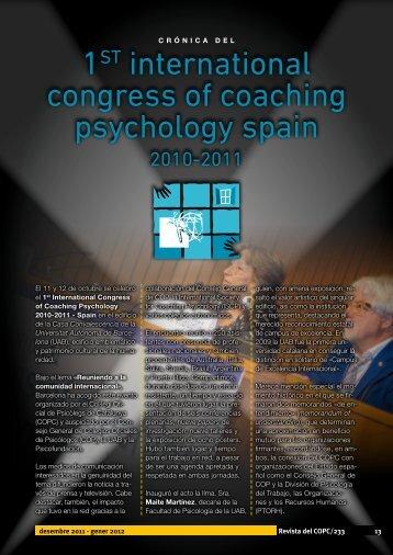 1 international congress of coaching psychology spain