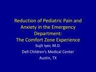 Barriers to decreasing pediatric pain