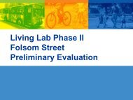 Living Lab Phase II Folsom Street Preliminary Evaluation