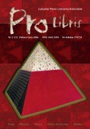 Cały numer 15 w jednym pliku PDF - Pro Libris - Wojewódzka i ...