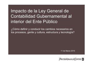 Impacto de la Ley General de Contabilidad Gubernamental al ...