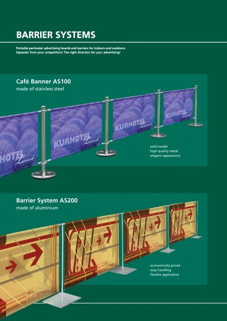 BArrier SyStemS BArrier SyStemS
