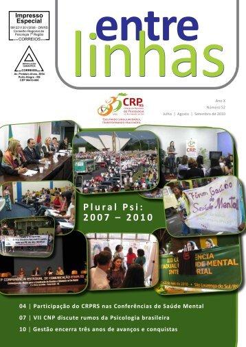 Baixe essa edição (PDF - 54kb) - Conselho Regional de Psicologia